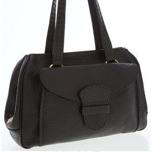Prada Textured Leather Bag with Front Flap Pocket